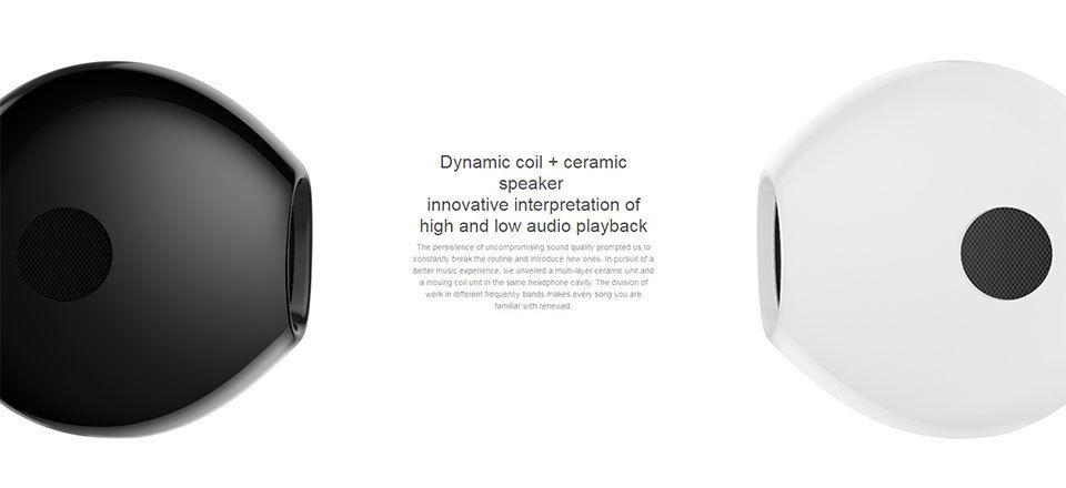 Xiaomi Hybrid DC Half fülhallgató - fekete