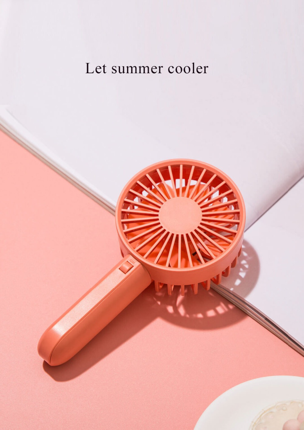 Xiaomi VH U hordozható kézi ventilátor, narancs