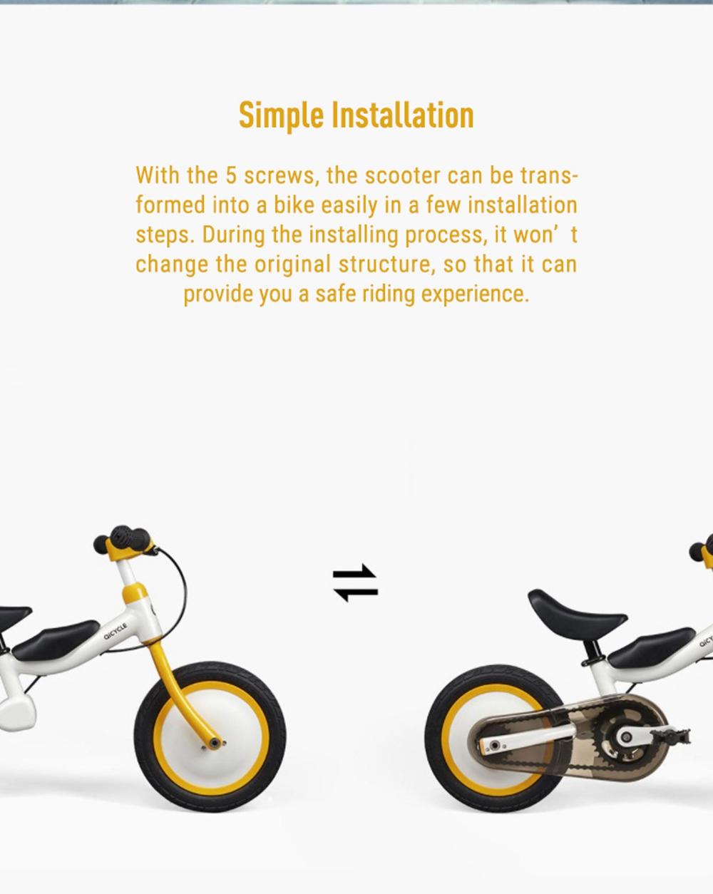 Xiaomi Qicycle KD-12 Gyermekkerékpár, piros