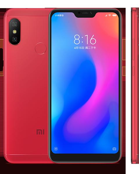 Redmi 6 Pro okostelefon - 3+32GB, piros