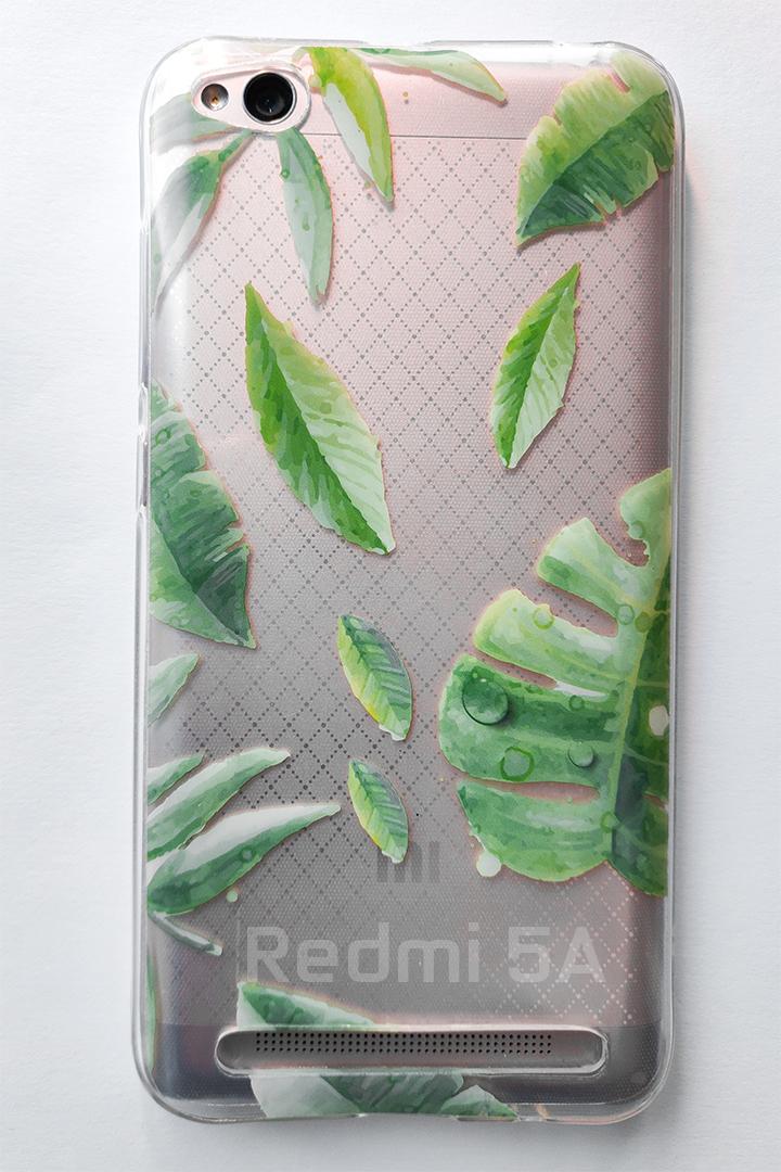Redmi 5A Forcell Tropico  szilikon tok, átlátszó-mintás