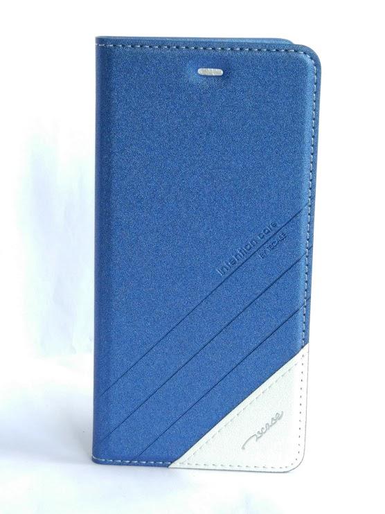 Redmi 3 műbőr fliptok - kék