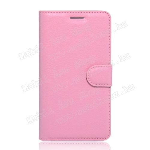 Mi 4S műbőr fliptok - rózsaszín