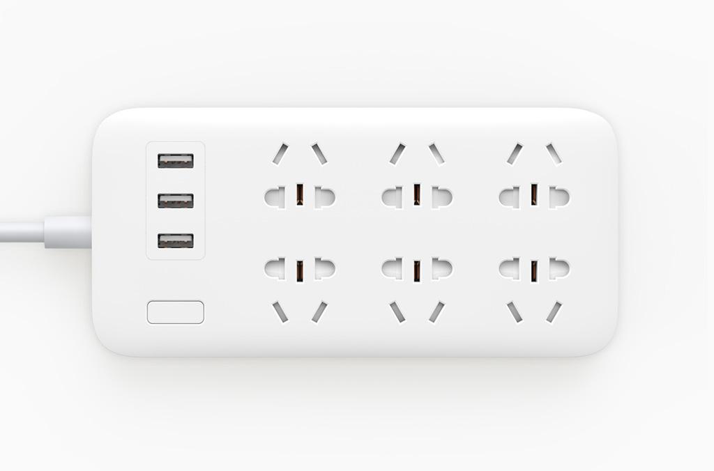 Mi Power Strip 6 hálózati elosztó 3 USB kimenettel (CN dugalj), fehér