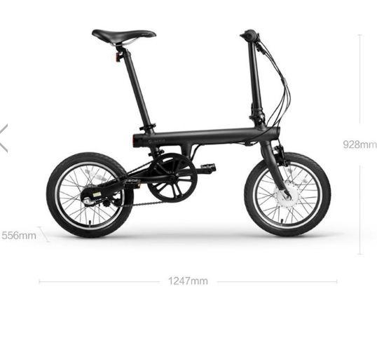 Bicicleta electrică MiJia QiCycle pliabilă - Neagră