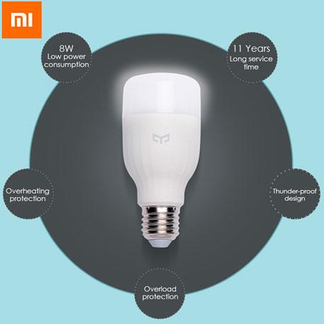 Yeelight Smart LED Bulb E27 okosizzó - fehér