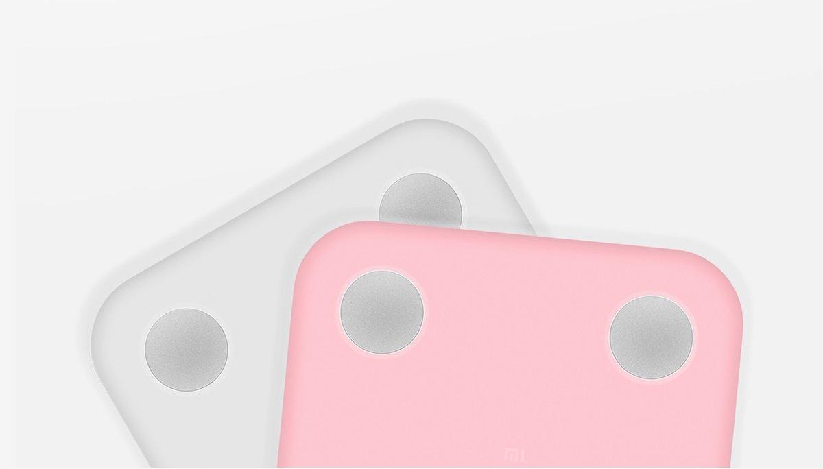 Xiaomi Mi Body Composition Scale okosmérleghez való rózsaszínű szilikon tok