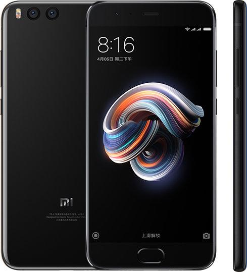 Mi Note 3 okostelefon - 6+128GB, fekete