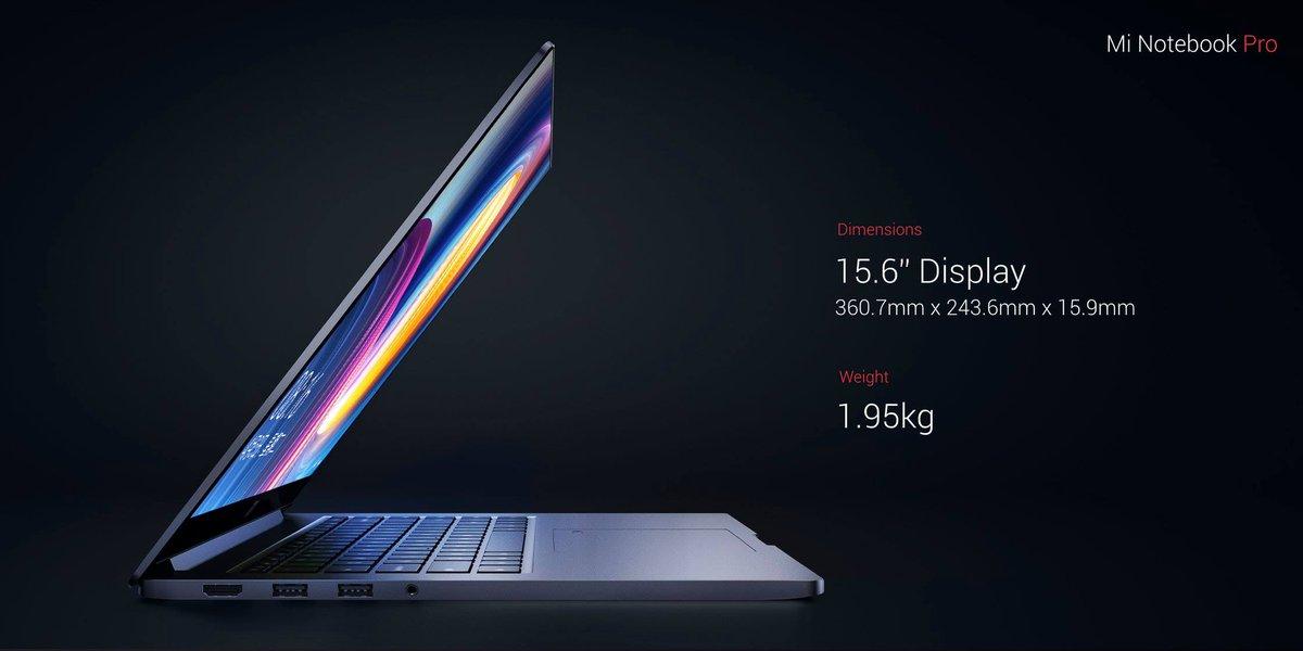 "Mi Notebook Pro - 15,6"", 8. gen i7 processzor / 16GB / 256GB  - szürke"