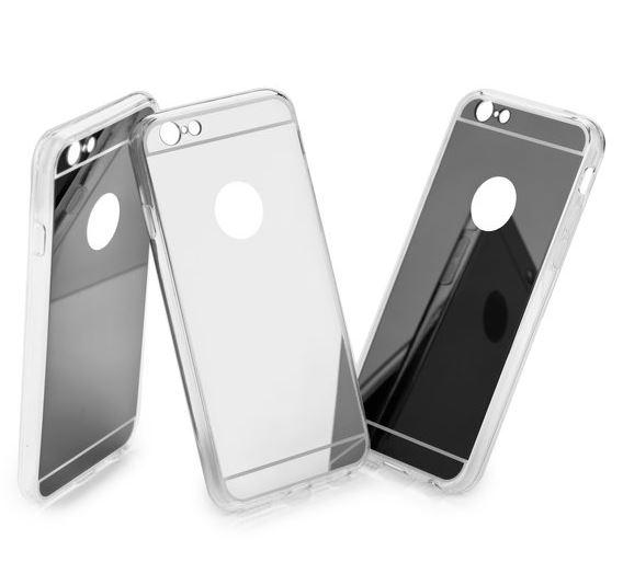Redmi 4x tükrös átlátszó szilikon tok - ezüst