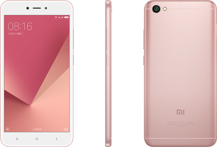Redmi Note 5A Lite okostelefon - 2+16 GB, Rózsa-arany, B20