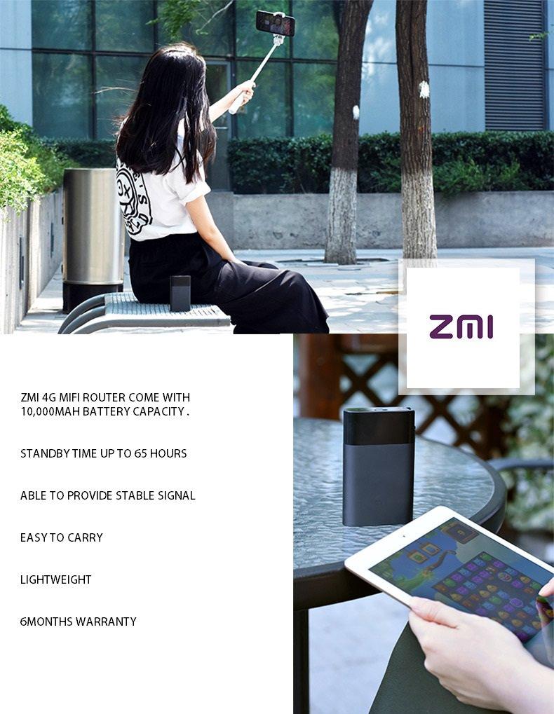 Xiaomi ZMI Router Wireless 4G - Power Bank 10000mAh, fekete
