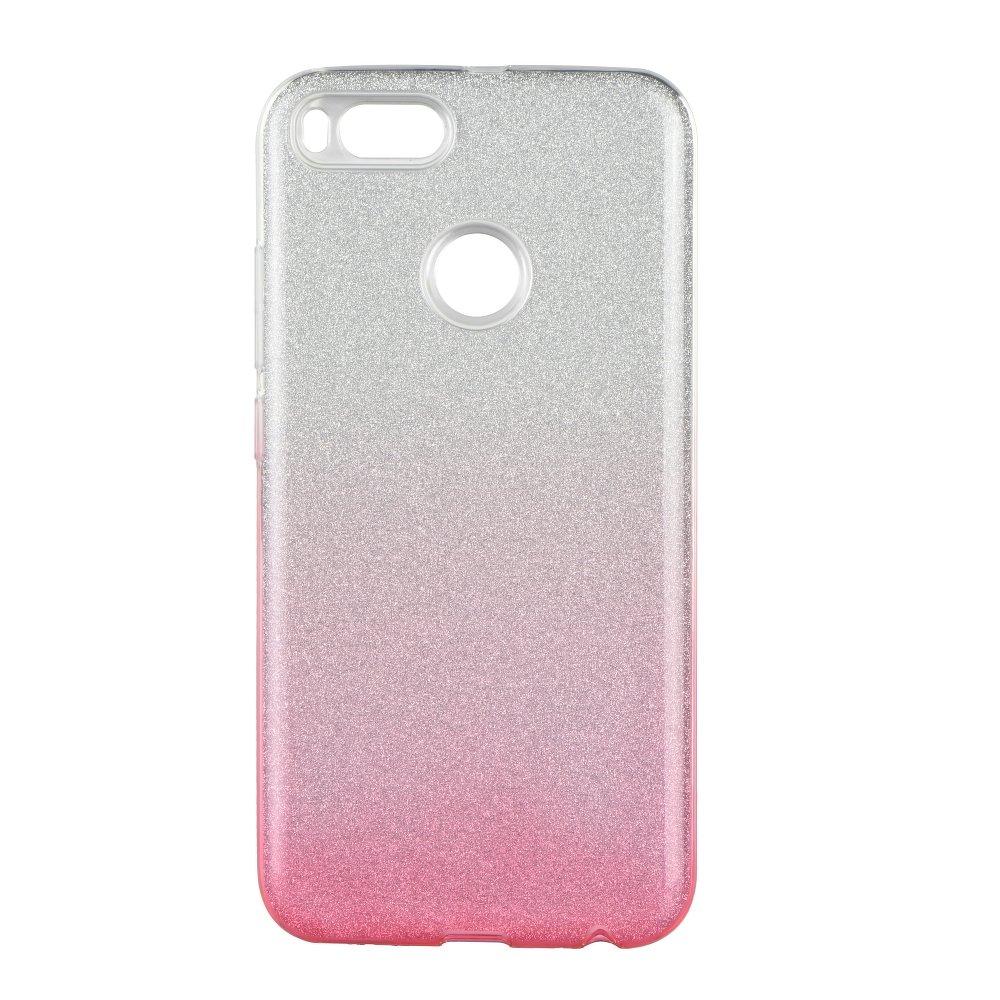 Mi 5X / A1 Forcell SHINING tok, átlátszó - rózsaszín