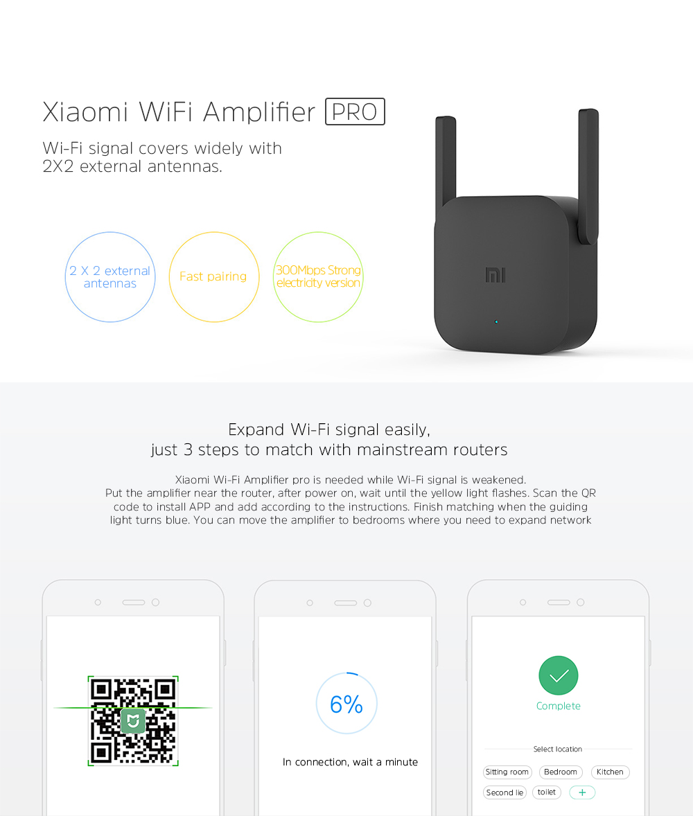 Ampilficator wifi Mi WIFI Amplifier Pro