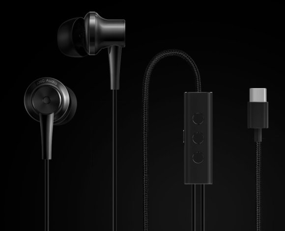 Xiaomi Type-C (ENC) fülhallgató, fekete