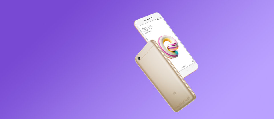 Redmi 5A okostelefon - 2+16GB, arany - B20