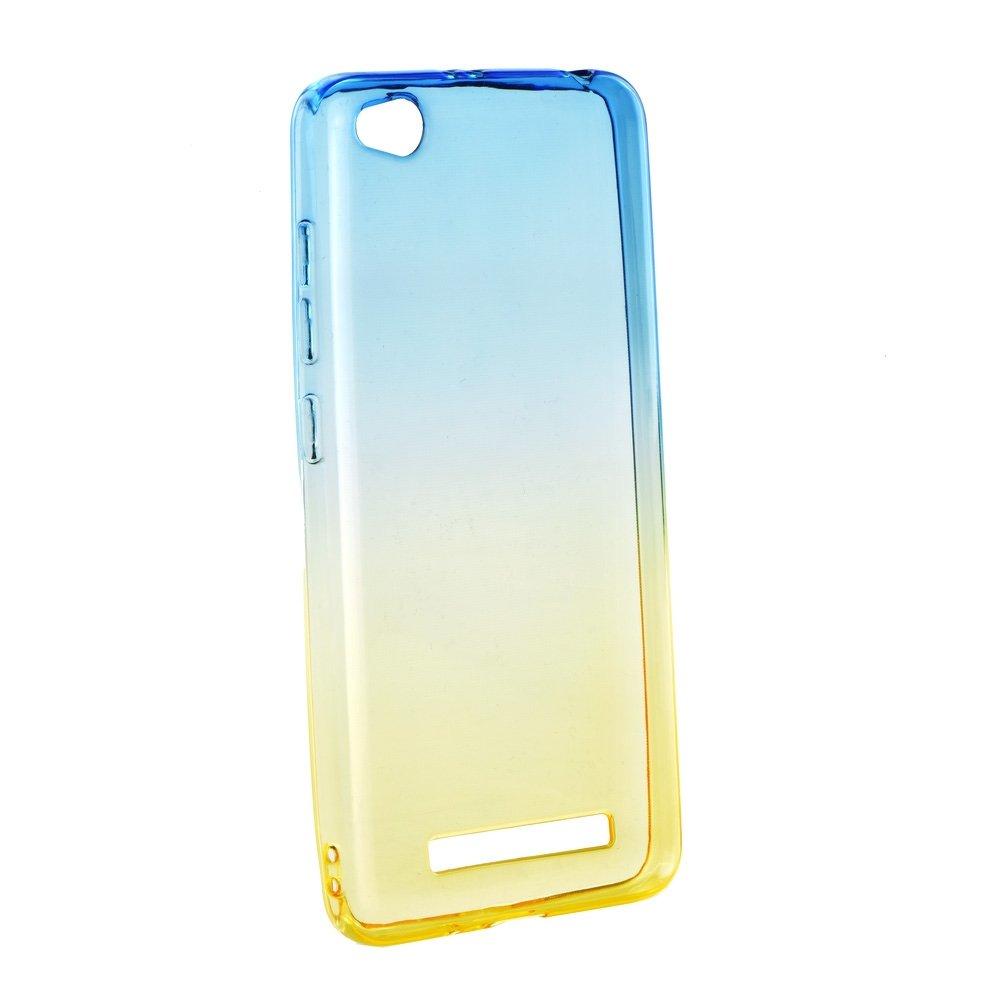 Redmi 4A ombre átlátszó szilikon tok - kék-arany