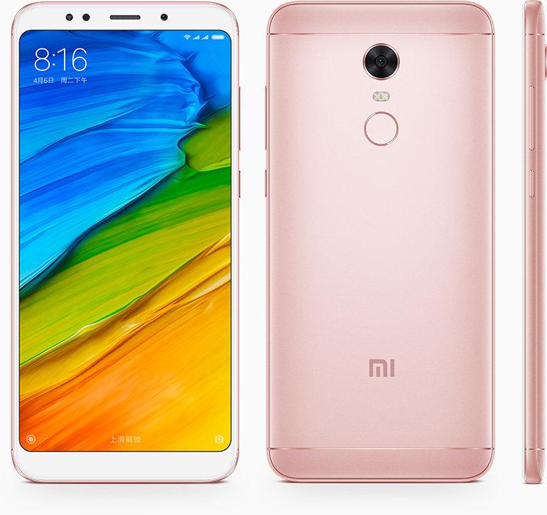 Redmi 5 Plus okostelefon - 3+32GB, rózsaszín