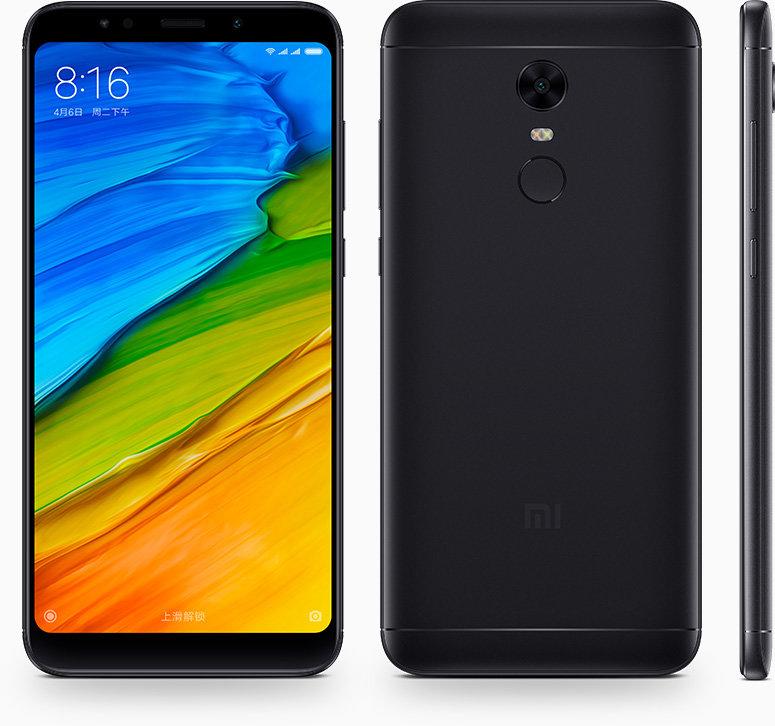 Redmi 5 Plus okostelefon - 4+64GB, fekete