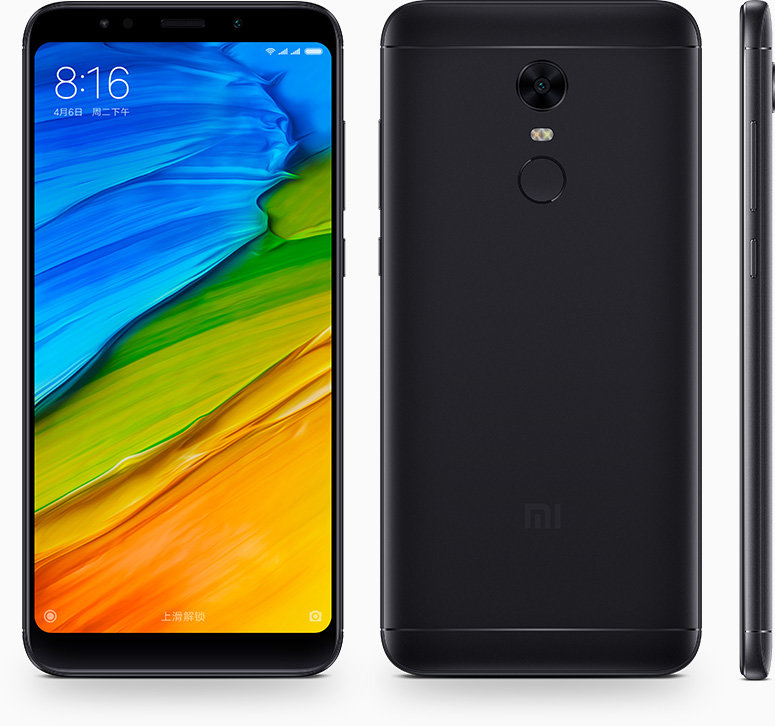 Redmi 5 Plus okostelefon - 3+32GB, fekete - B20