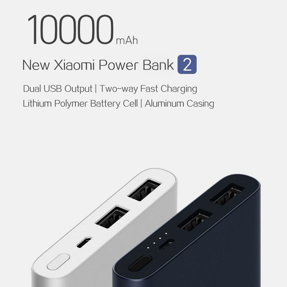 Power Bank 2S 10000 mAh külső akkumlátor, dupla USB kimenettel, ezüst