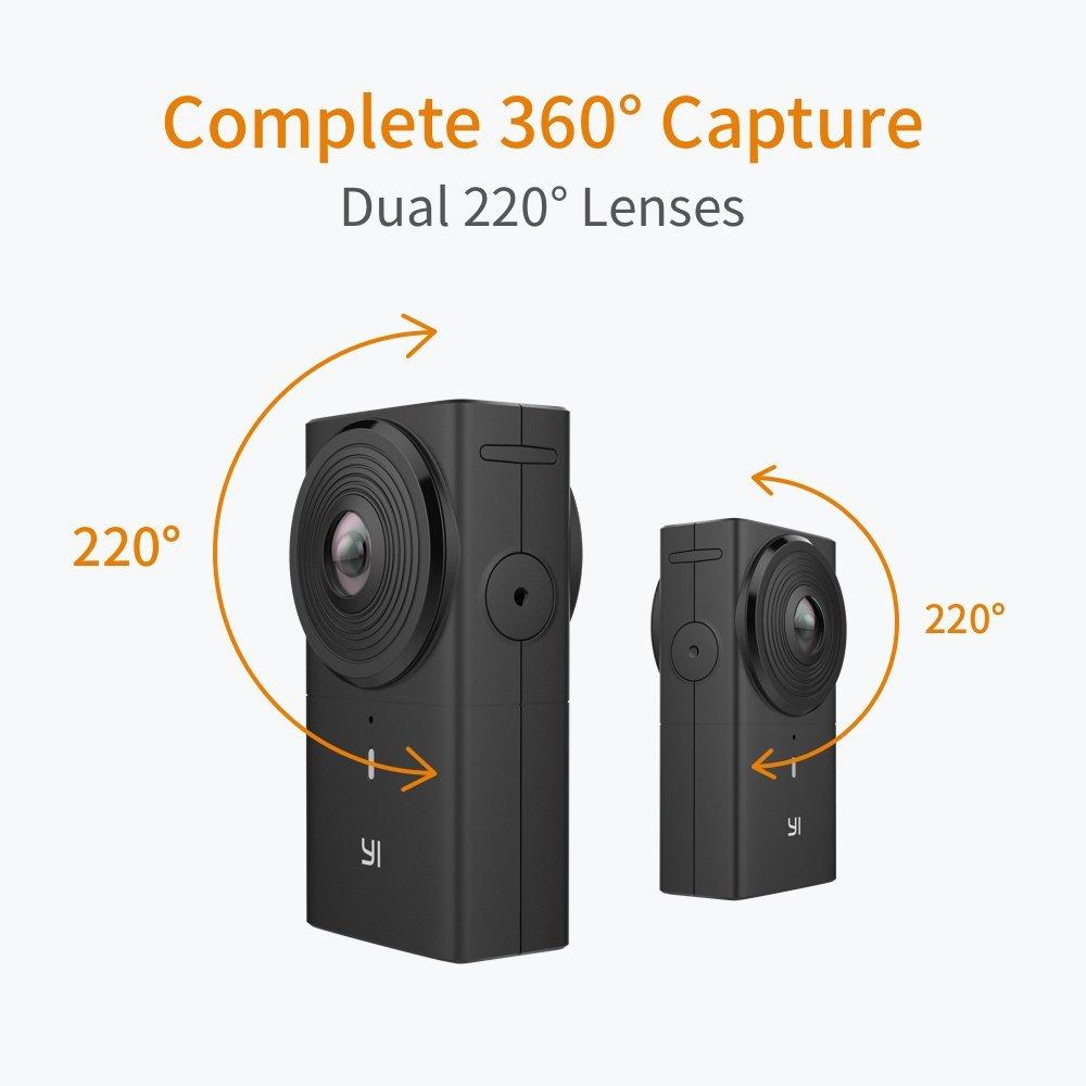 YI 360 VR kamera, fekete