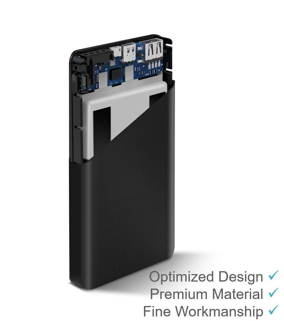 ZMI powerbank 10000mAh Type-C külső akkumlátor, fekete