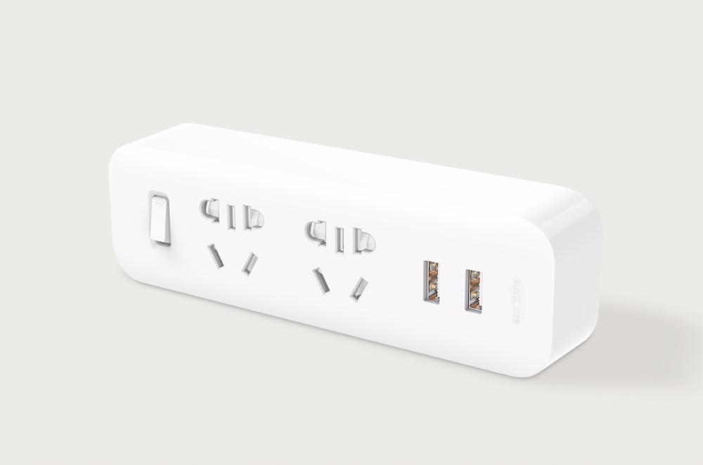 Xiaomi Powerstrip 2 hálózati elosztó, 2 USB kimenettel, fehér