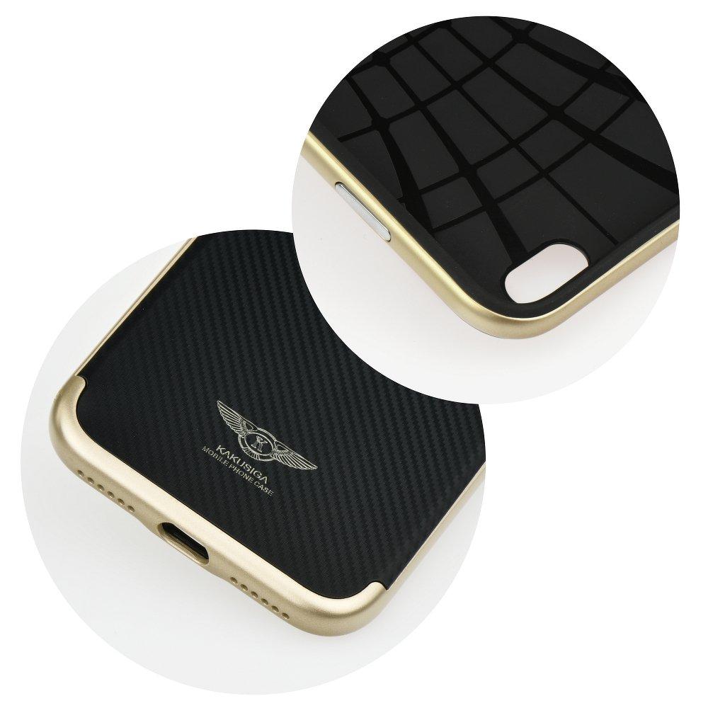 Redmi 4x Kaku Silk DH szilikon tok karbon mintával, arany