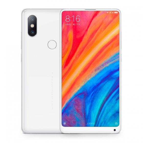 Mi MIX 2S okostelefon - 8+256GB, fehér