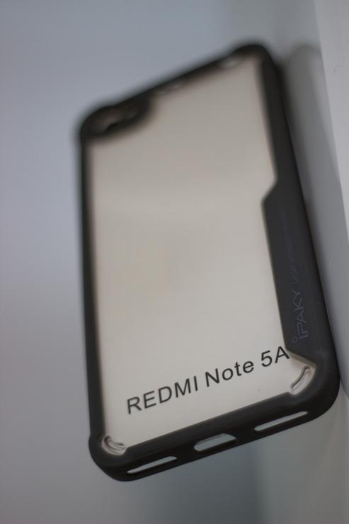 Redmi Note 5A Ipaky tok, (szilikon keret-akril hátlap), fekete