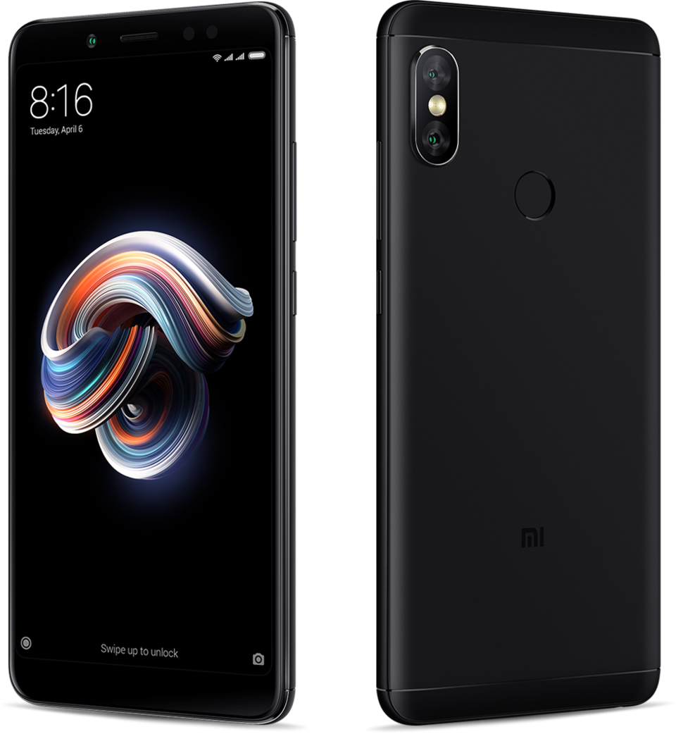 Redmi Note 5 okostelefon - 4+64GB, fekete