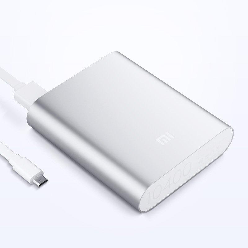 Power Bank 10400mAh külső akkumulátor - ezüst