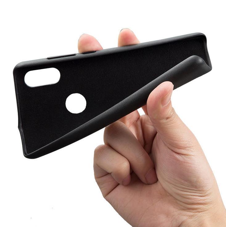 Mi MIX 2S leather case bőrhatású műanyag tok, fekete
