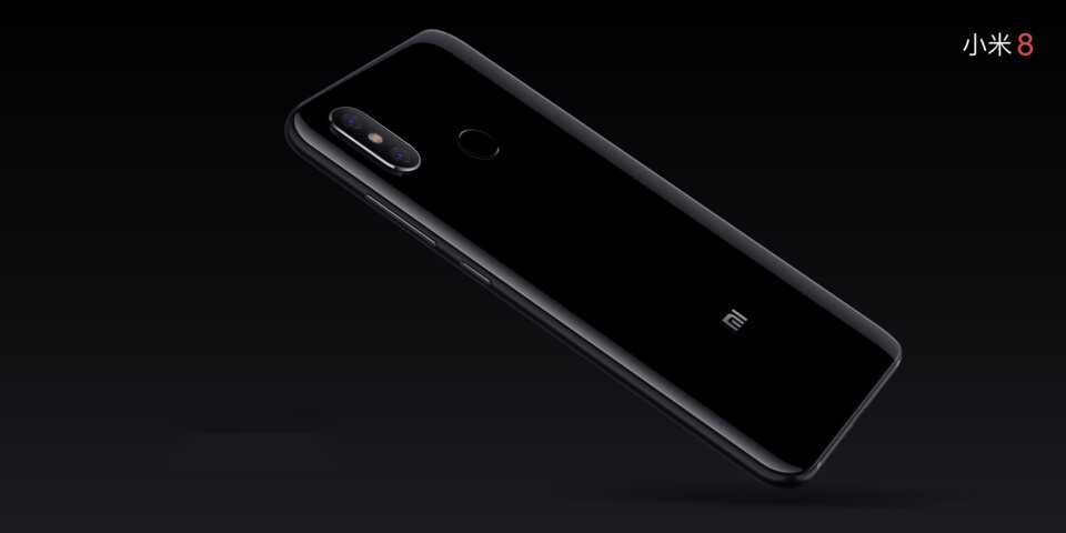 Mi 8 okostelefon 6+128GB, fekete