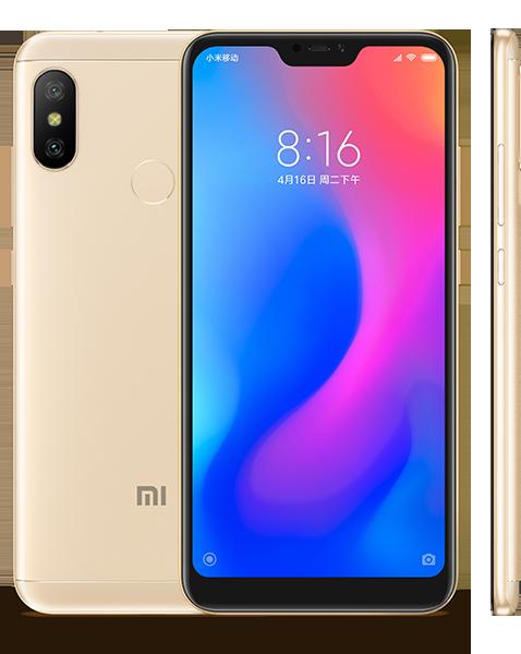 Redmi 6 Pro okostelefon - 3+32GB, arany