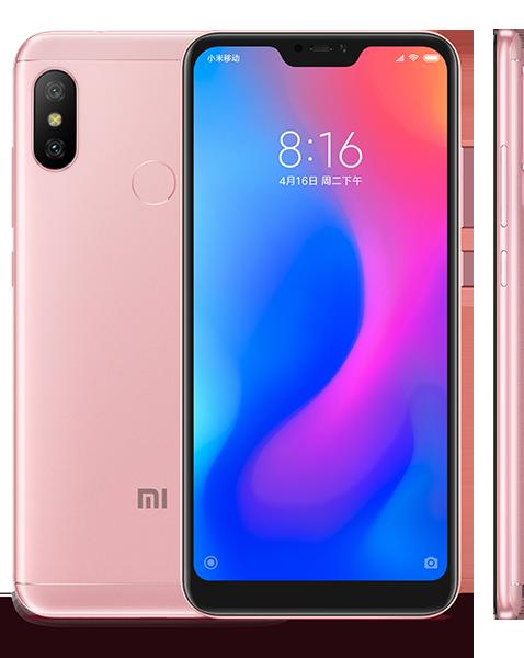 Redmi 6 Pro okostelefon - 3+32GB, rózsa-arany