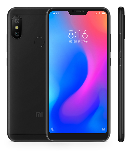 Redmi 6 Pro okostelefon - 4+32GB, fekete