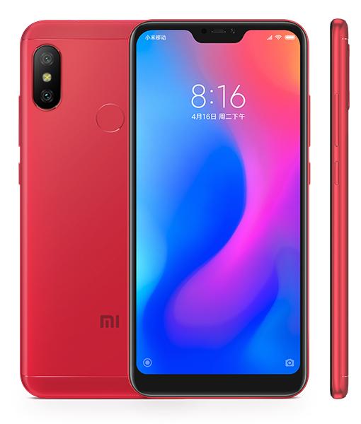 Redmi 6 Pro okostelefon - 4+32GB, piros