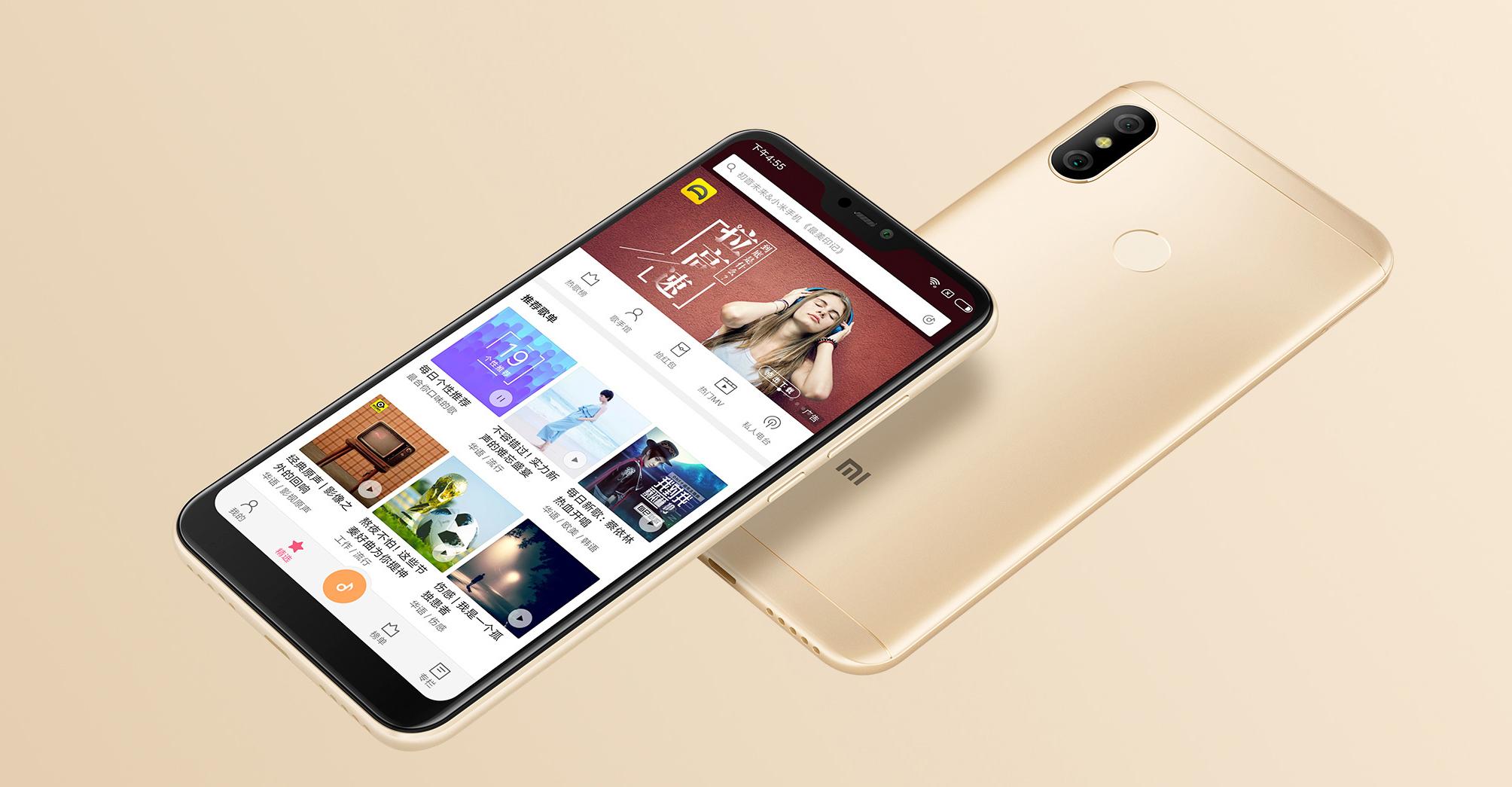 Redmi 6 Pro okostelefon - 4+64GB, arany