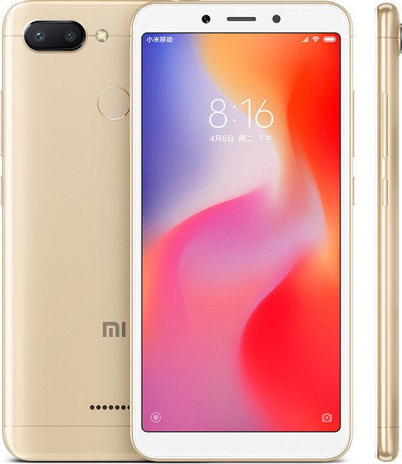 Redmi 6 okostelefon - 3+32GB, arany - B20