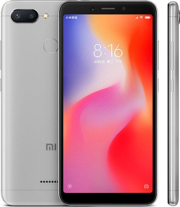 Redmi 6 okostelefon - 3+32GB, sötétszürke - B20