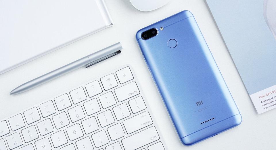 Redmi 6 okostelefon - 4+64GB, kék - B20