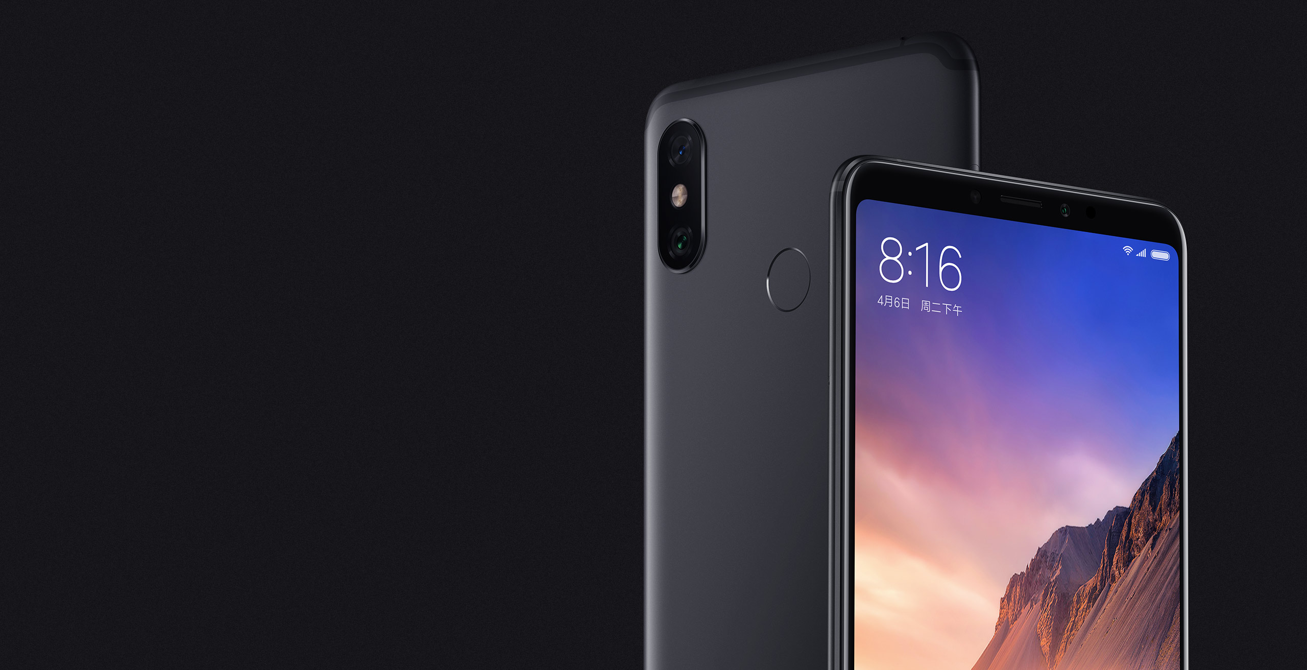 Mi Max 3 okostelefon - 4+64GB, fekete