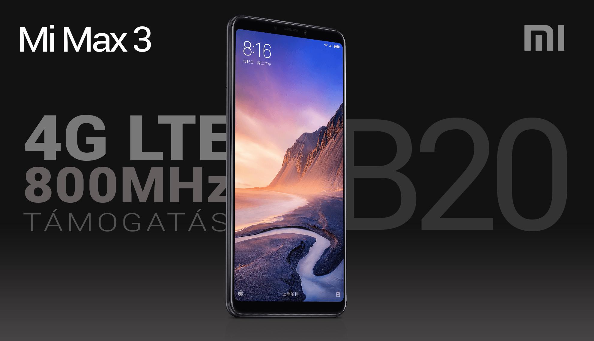 Mi Max 3 okostelefon - 6+128GB, kék