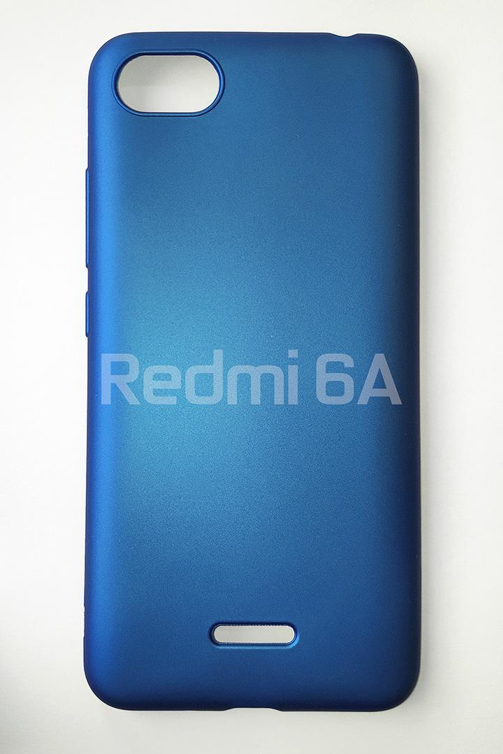 Redmi 6A szilikon tok, matt kék