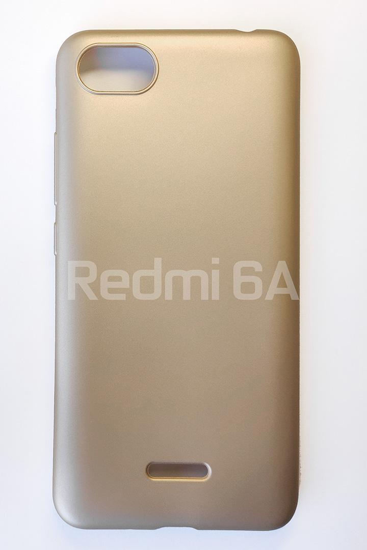 Redmi 6A szilikon tok, matt arany