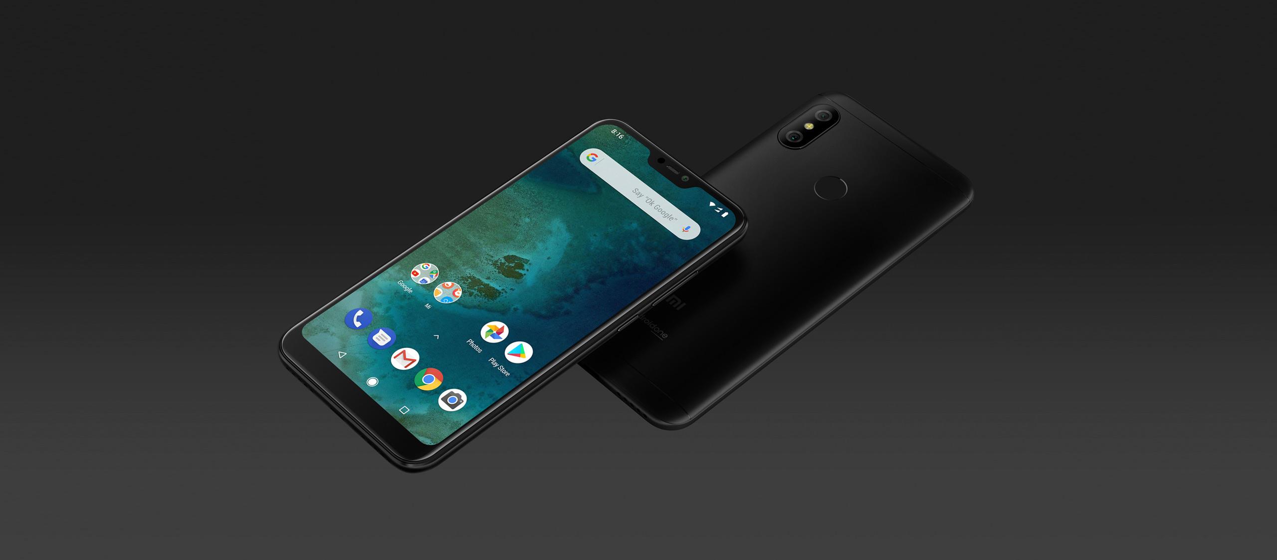 Mi A2 Lite okostelefon - 3+32GB, fekete