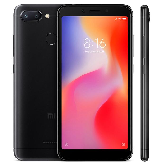 Smartphone Redmi 6 - 4+64GB - versiunea B20 - Neagră