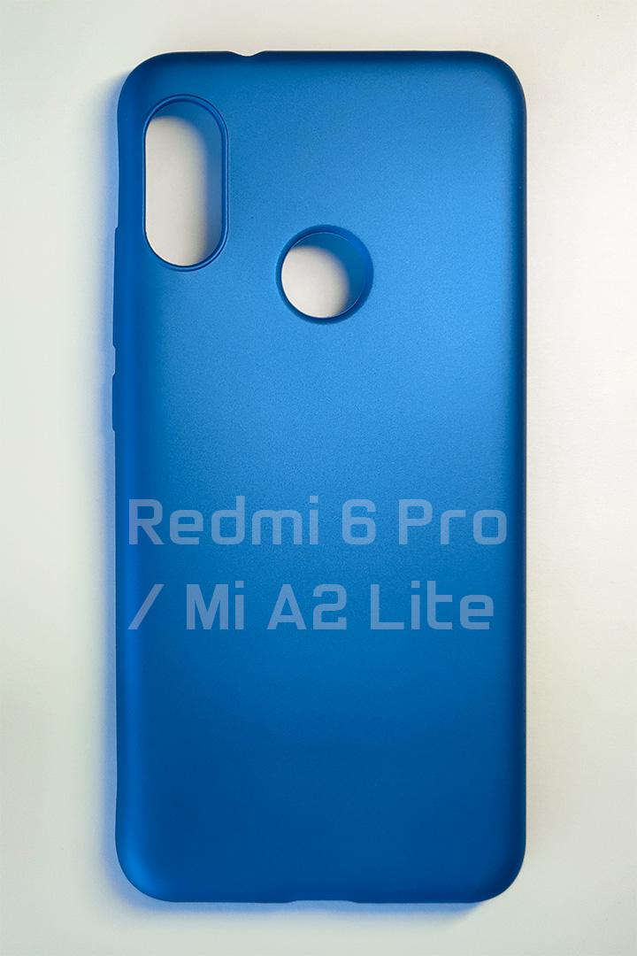 Redmi 6 Pro / Mi A2 Lite szilikon tok, matt kék